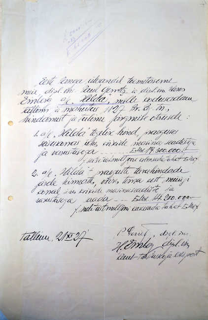 HILDA hindamisakt 1927_EAA